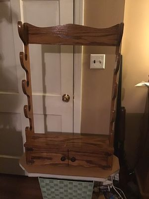 Handmade solid red oak gun rack. for Sale in Clanton, AL