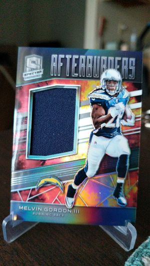 Chargers Melvin Gordon jersey card for Sale in Bellflower, CA