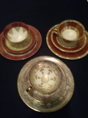 There are 3 tea sets, 3 piece tea set. Great condition and never used. for Sale in Lumberton, NJ