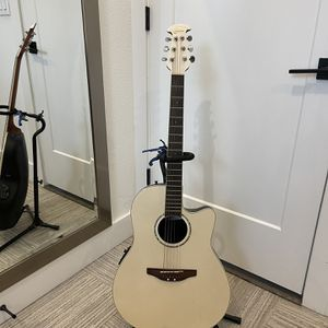 Ovation Celebrity - Acoustic Electric Guitar - Pearl White for Sale in Austin, TX