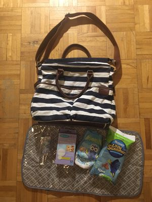 Diaper bag with new extra baby items-$5 for the set for Sale in Hyattsville, MD