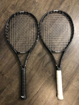 Two Prince exo3 Black 100 Tennis Rackets + Matching Bag for Sale in Baltimore, MD