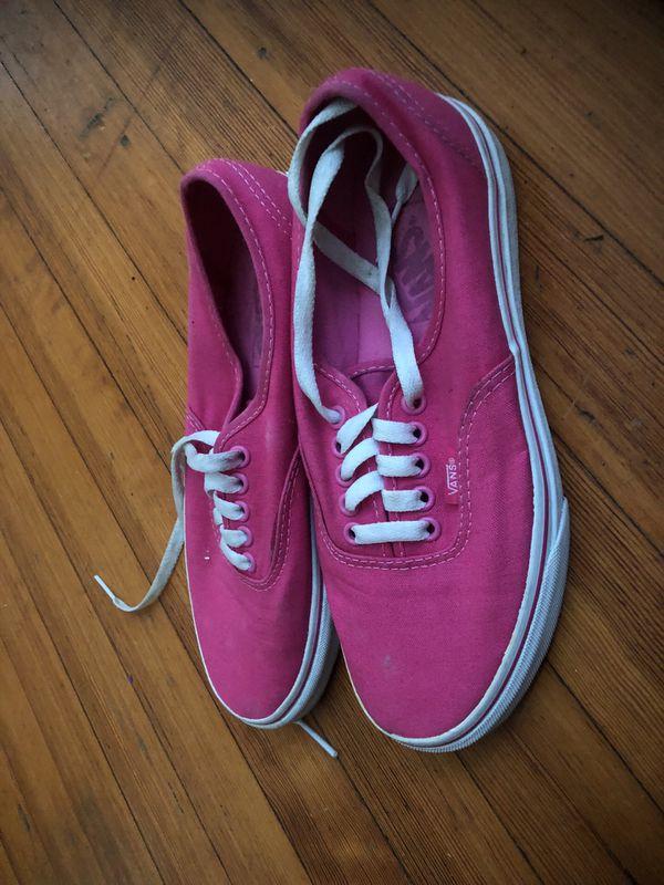 Pinks vans size 8