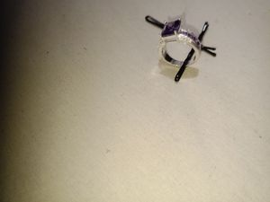 New Amethyst and cz silver cocktail ring for Sale in Englewood, CO