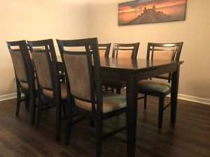 Dining room table with 8 chairs and extension for Sale in Baltimore, MD