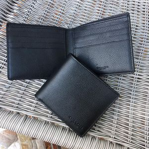 🌻Authentic Coach Men's Wallet Double Billfold Black Leather NWT. for Sale in Alhambra, CA