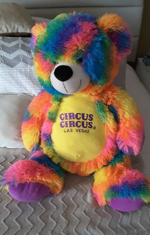 Multicolor teddy bear in very good condition for Sale in Riverside, CA