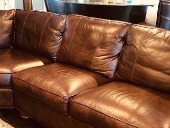 Leather Sectional Couch 3 PCs. Barely Use, Looks New, Excellent Condition for Sale in Pasadena,  CA