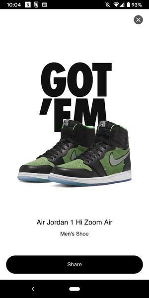 Jordan 1 Retro High ZOOM BLACK GREEN for Sale in Malvern, PA