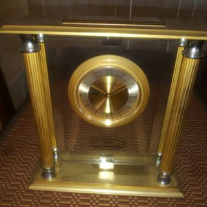 Danbury Brass Mantle Clock for Sale in Riverside, CA
