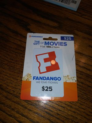 Fandango card 25 dollars worth for Sale in Ingleside, TX