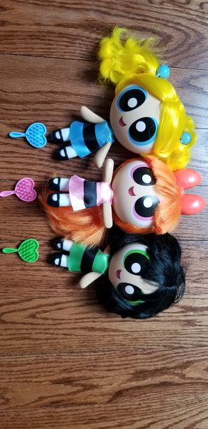 powerpuff girls dolls with real hair for Sale in Hoffman Estates, IL