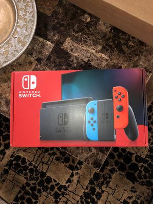 Nintendo Switch with Neon Blue and Neon Red Joy-Cons for Sale in Livonia, MI