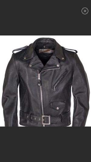 Schott's NYC Motorcycle black leather jacket - Great condition for Sale in Richmond, VA
