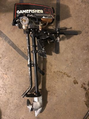 Boat motor 1.2 hp gamefisher for Sale in Parma, OH
