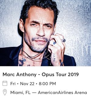 Marc Anthony concert tickets Nov 22 for Sale in Miami, FL