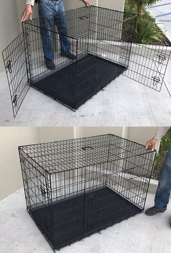 Brand new in box 42x28x30 Inches 2 Doors Pet Cage Dog Kennel Crate Foldable Portable Fold and Store Away