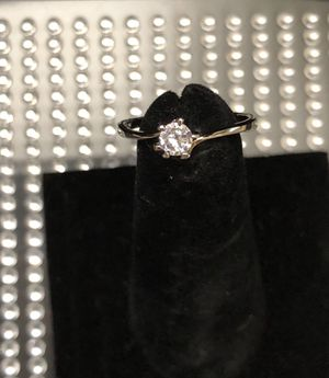18K Brand New White Gold Plated Small Cubic Zirconia Studded Beautiful Women Ring for Sale in Atlanta, GA