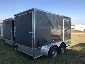 Black 6×12 enclosed Cargo Trailer for Sale in Houston, TX