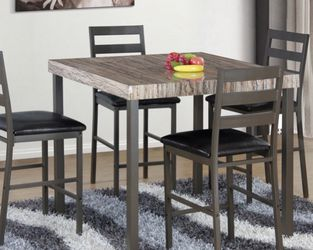 Brand New GRAY 5Piece Counter Height Set for Sale in Diamond Bar,  CA
