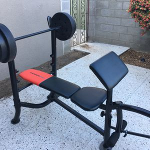 Weirder Pro 265 Bench With Weights for Sale in Fresno, CA