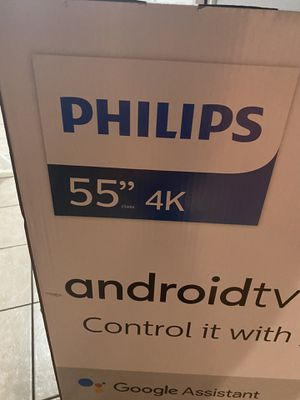 "phillips 55"" andriod tv for Sale in Capitol Heights, MD"