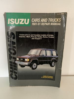 Isuzu: Cars and Trucks 1981-91 (Chilton's Total Car Repair Manuals) / Paperback for Sale in Loveland, OH