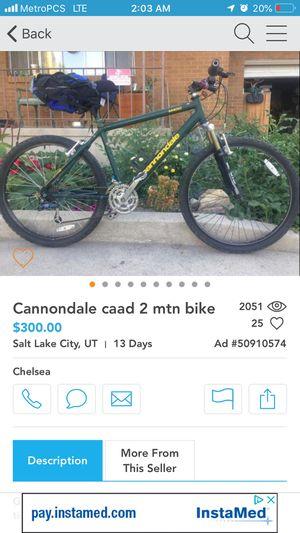 Nice Cannondale Mountain Bike for Sale in Salt Lake City, UT