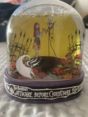 Nightmare before Christmas snow globe for Sale in Dinuba, CA
