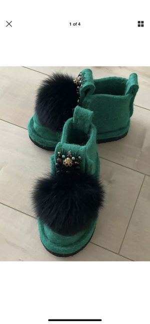 winter boots, felt boots, snow boots for kids, girl felt boots size 11-12 US, for Sale in Los Angeles, CA