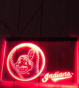 Cleveland Indians 3D engraved LED neon Light Sign for Sale in Akron, OH