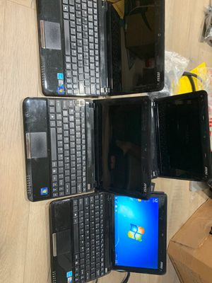 Lot of 4 MSI Notebook laptop computers ( webcam) for Sale in Rancho Cucamonga, CA