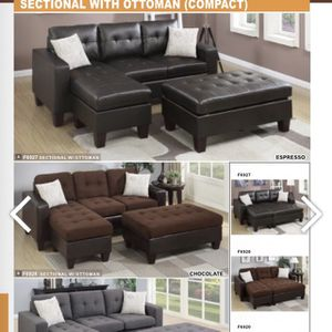 3Pcs Sectional Sofa With Ottoman for Sale in Pomona, CA