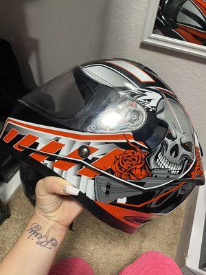 2 Helmets & muffler for motorcycle for Sale in Cutler Bay, FL