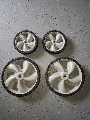 (4) like new lawn mower wheels for Sale in Sterling, VA