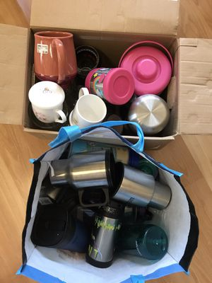 2 bags of mugs, thermos, glasses, water bottles, planters.... for Sale in Alameda, CA