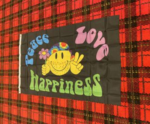 Brand new Peace Love & Happiness banner flag for Sale in Celina, OH