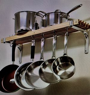Wall Mounted Wooden Pot Rack for Sale in Springfield, VA