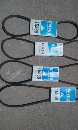 4 New fan belts for Sale in Goodyear, AZ