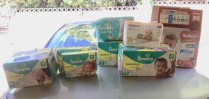 Diapers (Pampers, Huggies, Up & Up) Sizes (N, 1, 2) for Sale in Pomona, CA