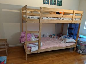 Must sell - Child bunk bed w/ matresses for Sale in Brookline, MA