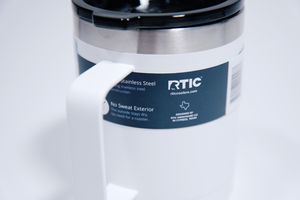 RTIC 12 oz. Stainless Steel Vacuum Insulated Coffee Cup White with Handle for Sale in Miami, FL