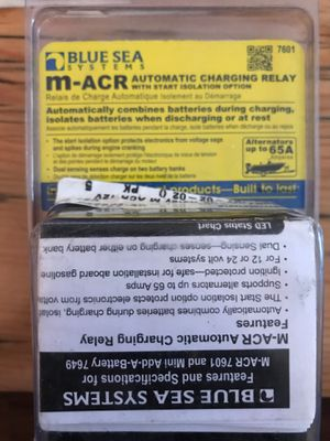 NEW BLUE SEA SYSTEMS MINI AUTOMATIC CHARGING RELAY 12/24V for Sale in San Diego, CA