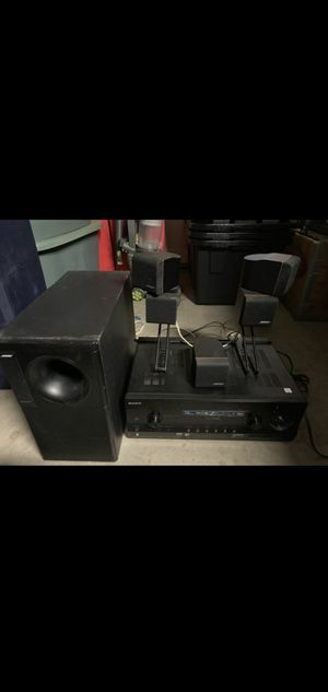 Bose dual cube TV Audio surround speakers with sony 3D receiver for Sale in San Diego, CA