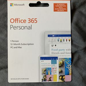 Microsoft Office 365 1 Year Subscription for Sale in Phoenix, AZ