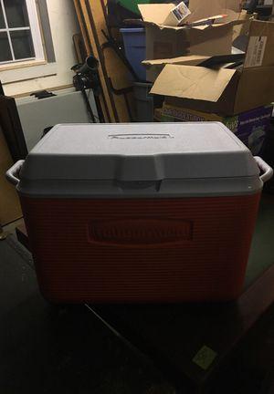 Orange Rubbermaid Cooler for Sale in Richmond, VA