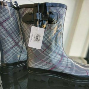 Brand New Womens Gold Toe® Printed Mid Calf Fur Lined Rain Boots for Sale in Edgewood, FL
