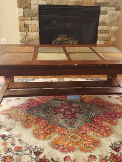 Wood/tile Coffee Table for Sale in Denver,  CO