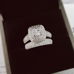 💍👰Stamped 925 Sterling Silver Cubic Zirconia Diamonds 💍 Ring Set for Sale in Boston, MA