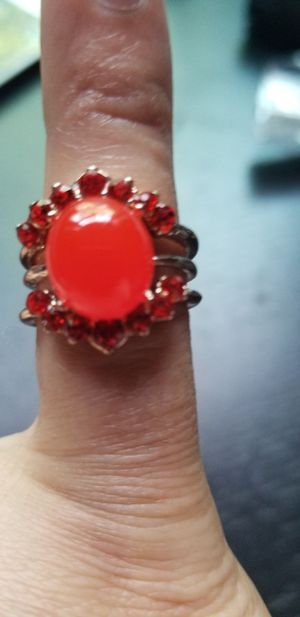 Red opal redstone Ring size 7 for Sale in Chicago, IL